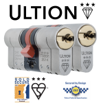 Ultion TS007 3 Star Euro Cylinder - Keyed Alike Pairs